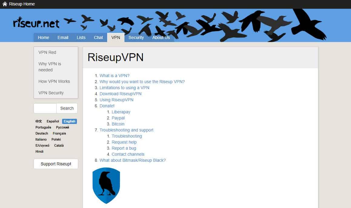 RiseUp VPN Review.